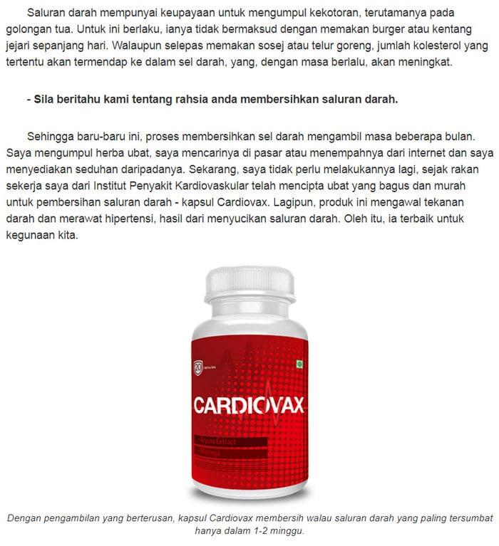 Cardiovax Singapore harga produk, testimoni pengguna, cara..