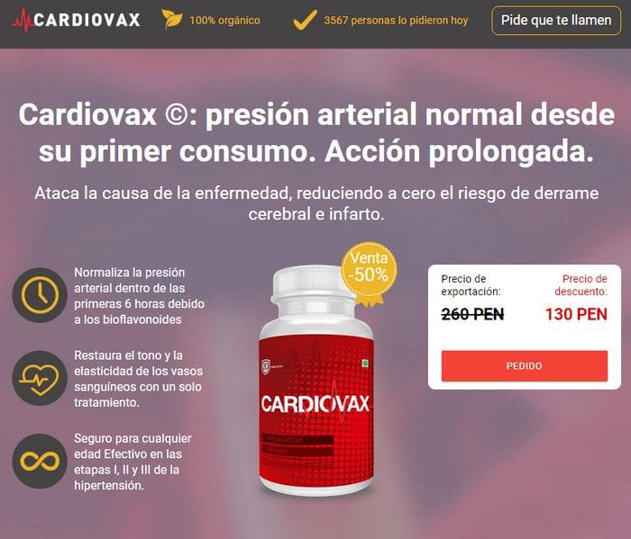 Cardiovax Peru, precio, componentes, comentarios - retiran..